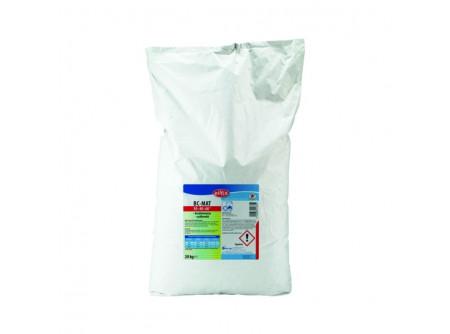 BC-MAT - Professzionális ipar mosópor, foszfátmentes, 20kg - Univerzális mosópor, mely minden hőfokon használható. Szálkímélő összetétele alkalmassá teszi tarka és piperemosásra is. Mosodák, kórházak és a vendéglátásrészére.  • makacs foltok esetén is hatékony • környezetbarát összetétel • gazdaságos adagolás