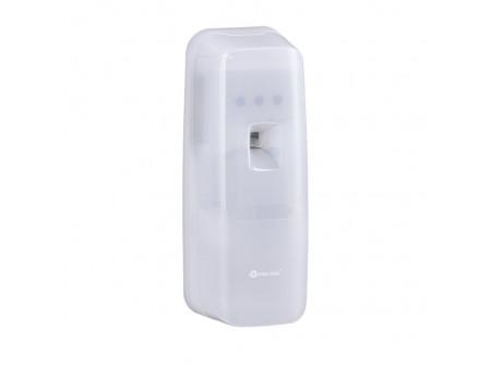 GHB703 - MERIDA HOLD,  Automata légfrissítő, LED kijelzővel, Bluetooth vezérléssel, ABS műanyag - A berendezés BLUETOOTH-on keresztül vezérelt. Minden paraméter beállítása és folyamatos ellenőrzése a HYGIENEKEY applikáció segítségével lehetséges. A berendezés a MERIDA által forgalmazott cserélhető illatpatronhoz való. Teljesen automatikus, nagy teljesítményű működés (teljes illat intenzitás a helységben, akár 170 m³–ig). Elegáns kivitelmagas minőségű törésálló műanyagból készült. Minden helységben alkalmazható. Rendszerkulccsal nyitható. Két AA típusú elemmel működik (a csomag nem tartalmazza az elemeket).