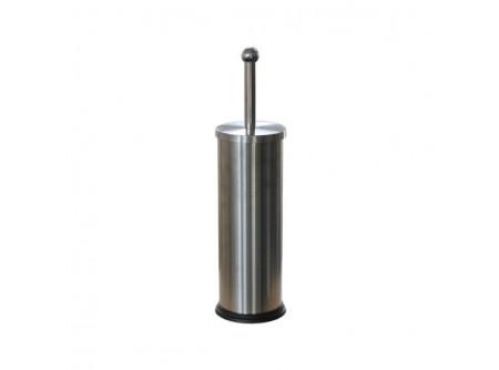 GIM301 - Toalettkefe, álló, rozsdamentes, szálcsiszolt - - fém, szálcsiszolt kivitel - higiénikus, zárt kivitel - műanyag bevonat a tartály alján