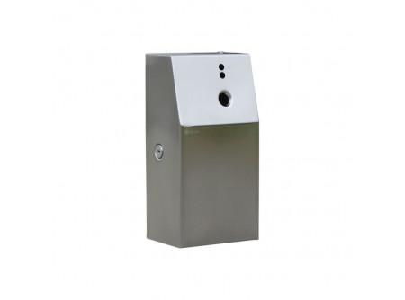 GSM018 - Rozsdamentes szálcsiszolt zárható ház,  GJB légfrissítő adagolókhoz - - GJB701 és GJB702 típusú berendezésekhez alkalmas - biztonsági rendszerkulccsal zárható - szálcsiszolt kivitelben
