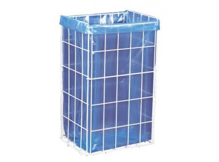 K1 - Hulladékgyűjtő kosár, 47L - - fehér PVC-vel bevont könnyű acélhuzalból készült - űrtartalom: 47 liter - megfelelő méretű hulladékgyűjtő zsákot biztosítunk