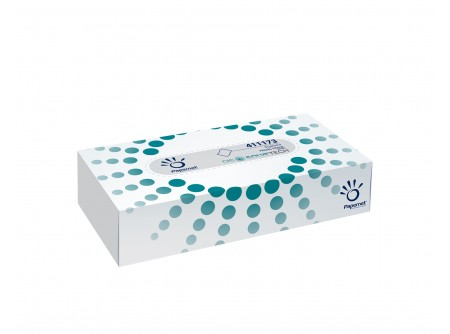 KKI-411173 - Kozmetikai kendő, 2rétegű, cellulóz, 100lap - - kétrétegű, fehér - alapanyag: cellulóz