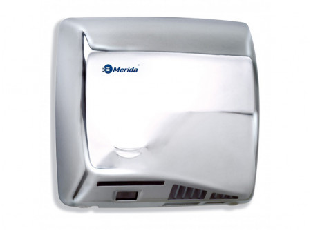 M06C - SPEEDFLOW kézszárító, rozsdamentes polírozott, 1150W - - teljesítmény: 1150 W - behatolás elleni védelem: IP23 - levegő hőmérséklet: 42 °C - szárítási idő: 10 s - infravezérlés, automatikus be-és kikapcsolás - 1,5 mm vastag acélház - frozsdamentes, polírozott változat