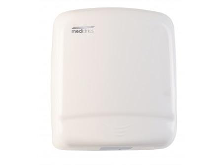 M99A - OPTIMA kézszárító, fém, fehér, 1640W - - teljesítmény: 1640W - levegő hőmérséklet: 57 °C - kézszárítás ideje: 40 sec - behatolás elleni védelem: IP21 - infravezérlés, automatikus be-és kikapcsolás - 1,5 mm vastag acélház fehér festett burkolattal
