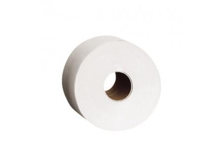 PKB102 - Toalettpapír midi, fehér, 1rétegű, 340m, 6tekercs - - egyrétegű, fehér - alapanyag: recycled