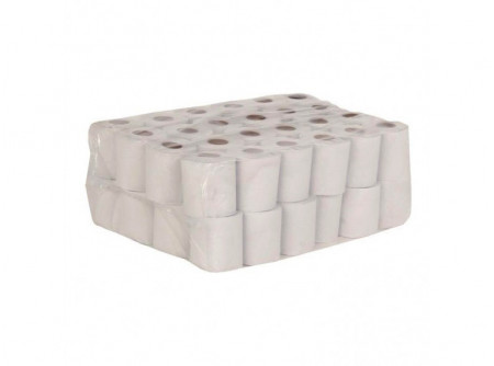 PKB503 - Háztartási toalettpapír, natúr, 1rétegű, 50m, 435lap, 32tekercs - - egyrétegű, natúr, perforált - alapanyag: recycled