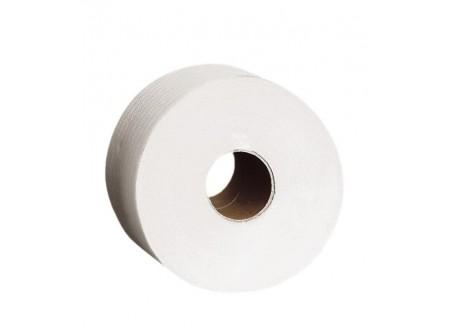 POB003 - Toalettpapír maxi, fehér 2rétegű, 340m, 1415lap, 6tekercs - - kétrétegű, fehér, perforált - alapanyag: recycled