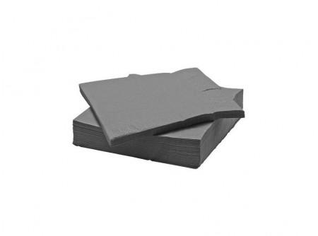 SBA-SILVER33 - KIFUTÓ, Szalvéta, parti EZÜST, 3rétegű, 33x33cm, 20lap - - háromrétegű, ezüst - alapanyag: cellulóz