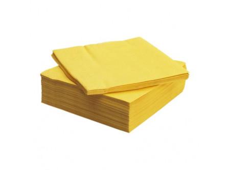 SCA-18343/cs - KIFUTÓ Szalvéta, SÁRGA, 3rétegű, 33x33cm, 250lap - - háromrétegű, sárga - alapanyag: cellulóz