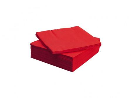SCA-477210/cs - Szalvéta, PIROS, 2rétegű, 33x33cm, 200 lap - - kétrétegű, piros - alapanyag: cellulóz