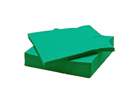 SI-406090/cs - KIFUTÓ Szalvéta, SMARAGDZÖLD, 2rétegű, 25x25cm, 100lap - - kétrétegű, zöld - alapanyag: cellulóz
