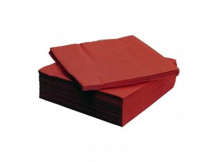 SI-406452/cs - KIFUTÓ Szalvéta, BORDÓ, 2rétegű, 33x33cm, 50lap - - kétrétegű, bordó - alapanyag: cellulóz