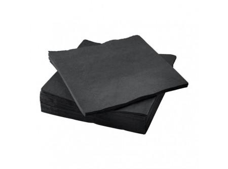 SI-406458/cs - KIFUTÓ Szalvéta, FEKETE, 2rétegű, 33x33cm, 50lap - - kétrétegű, fekete - alapanyag: cellulóz