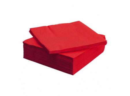 SI-409020/cs - KIFUTÓ Szalvéta, PIROS, 2rétegű, 25x25cm, 100lap - - kétrétegű, piros - alapanyag: cellulóz