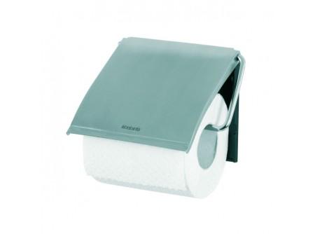 T7 - Háztartási toalettpapír tartó, fém/műanyag, szálcsiszolt - – egy tekercses, szálcsiszolt kivitel – esztétikus, otthoni/hotel használatra