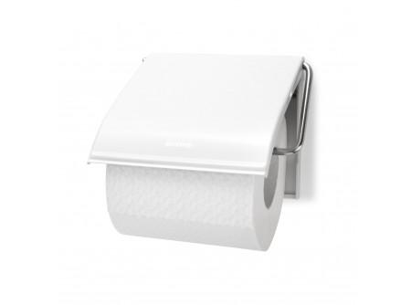T7W - Háztartási toalettpapír tartó, fehér festett fém - – egy tekercses, festett fehérkivitel – esztétikus, otthoni/hotel használatra