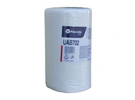 UAB702 - Szöszmentes törlőkendő, tekercs, 30x30cm, 45m, 150lap - - egyrétegű, fehér - lapméret: 30x30cm
