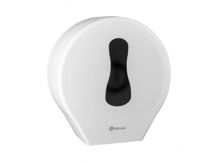 BEB101 - Merida One toalettpapír adagoló midi, fehér, ABS műanyag - - anyaga: ABS műanyag - ablak a papír mennyiségének ellenőrzéséhez - jumbo papírokhoz max. 23 cm-es átmérővel - kulccsal zárható