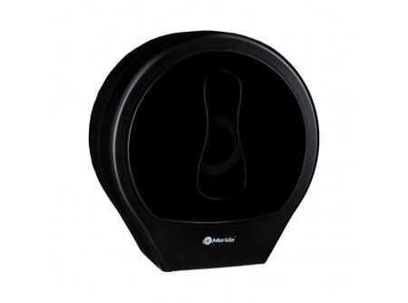 BEC101 - Merida One toalettpapír adagoló midi, fekete, ABS műanyag - - anyaga: ABS műanyag - ablak a papír mennyiségének ellenőrzéséhez - jumbo papírokhoz max. 23 cm-es átmérővel - kulccsal zárható