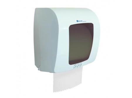 CTS401 - KIFUTÓ   Automat rolnis kéztörlő adagoló, fehér ABS műanyag, szürke szemmel, mini rollhoz -