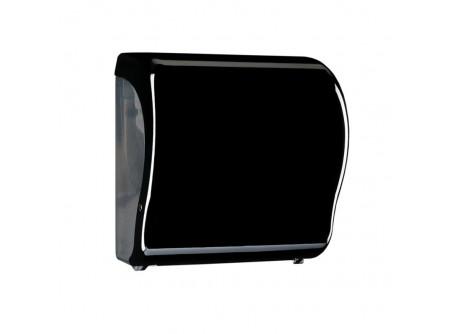 CUC351 - KIFUTÓ UNIQUE PIANO BLACK LINE / FÉNYES automata rolnis kéztörlő adagoló - - egyedi design - törésálló ABS műanyag - a mechanikus vágóhenger a kéztörlőt laponként adagolja - a töltöttség látható az áttetsző ablakon keresztül - vágott lapméret hossza: 25 cm     MERIDA UNIQUEline