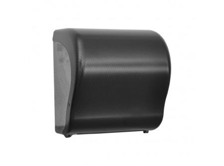 CUH371 - UNIQUE EXCLUSIVE CARBON LINE / FÉNYES automata rolnis kéztörlő adagoló - - egyedi design - törésálló ABS műanyag - a mechanikus vágóhenger a kéztörlőt laponként adagolja - a töltöttség látható az áttetsző ablakon keresztül - vágott lapméret hossza: 25 cm       MERIDA UNIQUEline
