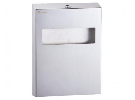 GPW1P - Toalett ülőke higiéniai papíralátét adagoló, rozsdamentes, polírozott - – 100 db-os cserélhető töltőcsomag – polírozott, kulccsal zárható kivitel