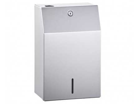 GSM005 - Zárható fém tartó 5 literes kannákhoz, rozsdamentes, szálcsiszolt - – zárható fém tartó 5 literes kannához – szálcsiszolt rozsdamentes acél (GSM005), festett fehér (GSB005) változat – cső szett 4 szappanadagolóhoz max. 190 cm szélességben (GWT501) – előtétfalba és pultba építhető szappanadagolókhoz