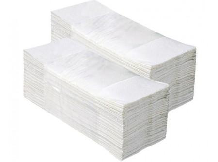 """HPS - Hajtogatott kéztörlő, fehér, 1rétegű, `V` hajtogatású, 4000lap VOB012 - - egyrétegű, fehér""""Z"""" hajtogatás - alapanyag: recycled"""