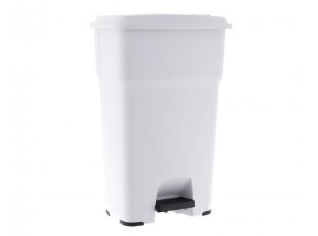 KJB409 - Hulladékgyűjtő, 85L, műanyag, lábpedálos - - 85l űrtartalom - kiváló minőségű műanyagból - pedálmechanizmusnak köszönhetően megfelel a HACCP ajánlásainak - tökéletesen alkalmazható magas higiéniát igénylő helyekre - pl. vendéglátó és ipari létesítmények, szállodák - a lassan záródó fedél biztosítja a csendes működést - állítható fedél záródási sebességgel - fedél átfedés a kellemetlen szagok ellen - széles, csúszásmentes pedál - csúszásmentes gumi lábak - a kosár belsejében található rögzítők tartják a helyén a zsákot - TÜV által minősített