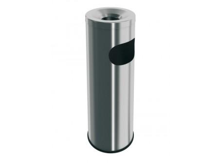 P1M - Hamutartó, rozsdamentes, szálcsiszolt, álló - - könnyen tisztítható, kivehető hamutartó fedél - rozsdamentes, polírozott kivitel - hulladék vödör kapacitás: 9 liter