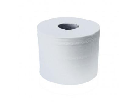 POB701 - Toalett papír, CenterPull, fehér, 2réteg, d14cm, 80m, 500lap, 12tekercs - - fehér, 2 rétegű, recycled,2x17,5g/m2