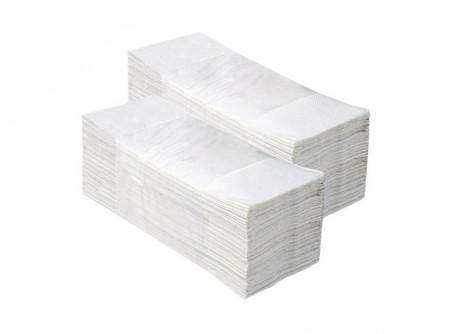 """PZ38-W - Hajtogatott kéztörlő, fehér, 2rétegű, cellulóz, ´V´ hajtogatású, 3200lap - - kétrétegű, fehér, """"V"""" hajtogatás - cellulóz alapanyag"""