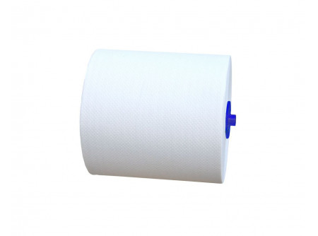 RAB301 - Rolnis kéztörlő maxi, fehér, 1rétegű, 250m/tekercs, 6tekercs, automata adagolókba - - fehér, 1rétegű,  - 1x42g/m2, tekercshossz 150m, 20cm hengermagasság. - kiváló ár/érték arány -alapanyag: recycled