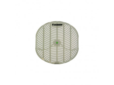 TAA327 - Piszoárszűrő, áttetsző műanyag, sárgadinnye illatúMERI - - szűrő illatosított műanyagból - megakadályozza a tisztítókő lefolyóba jutását - fóliakesztyűvel a higiénikus cseréhez - az összes forgalomban lévő piszoárral kompatibilis