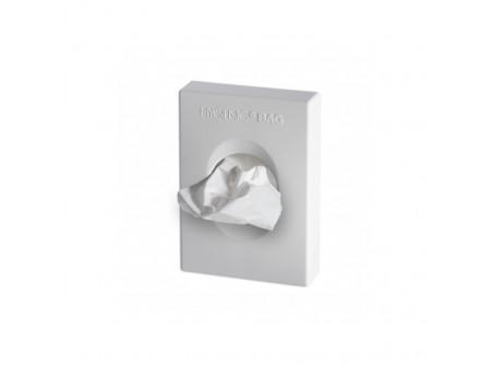 ZT - Intim hulladékgyűjtő adagoló, műanyag, fehér - – erős műanyagból készült – patronos utántöltés – egyesével adagolja a zacskókat – egy töltőpatron 25 zacskót tartalmaz