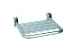 Felhajtható zuhanyülőke, rozsdamentes, szálcsiszolt,  400x450mm  AM0201CS  Maximális terhelhetőség: 120 kg