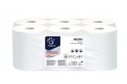 KIFUTÓ  Rolnis kéztörlő maxi, fehér, 2rétegű, cellulóz, 140m, 6tekercs, automata adagolóba  ARPI-403361W  Régi cikkszám: 13-ARPI-403361 26gr