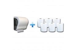 Akciós csomag: Automata rolnis kéztörlő adagoló + 1karton fehér rolnis papír  CJB301/RAB301  max 20 cm átmérőjű roll! egyenes vágóél