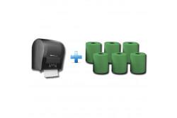 Akciós csomag: Automata rolnis kéztörlő adagoló + 1karton zöld rolnis papír  CJC302/RAZ301  Akciós csomag: Automata rolnis kéztörlő adagoló + 1karton zöld rolnis papír