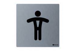 Toalett piktogram, rozsdamentes, FÉRFI  GSM008