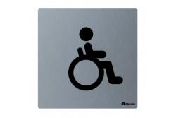 Toalett piktogram, rozsdamentes, MOZGÁSKORLÁTOZOTT  GSM009
