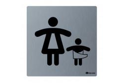 Toalett piktogram, rozsdamentes, PELENKÁZÓ  GSM010