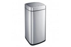 Szenzoros hulladékgyűjtő, rozsdamentes, szálcsiszolt, 35L  KIM504