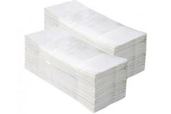 Hajtogatott kéztörlő, fehér, 1rétegű, ´V´ hajtogatású, 4000lap  PZ23